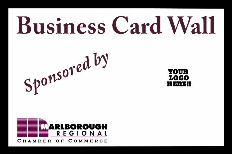 Business card wall advertising marlborough regional chamber of business card wall advertising colourmoves
